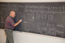 "A professor conducts a lecture for his ""Nonlinear Dynamics and Chaos"" class."