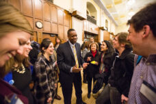Detroit Emergency Manager Kevyn Orr speaks with U-M faculty and students during a Policy Talks @ the Ford School event at the Michigan Union.