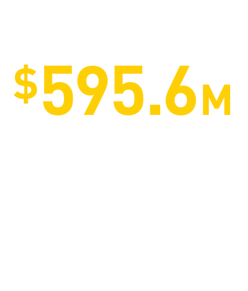 $524.9M scholarships + fellowships awarded to students