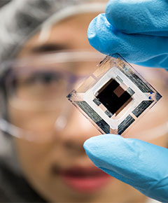 U-M researchers have demonstrated organic solar cells that can achieve 15 percent efficiency.